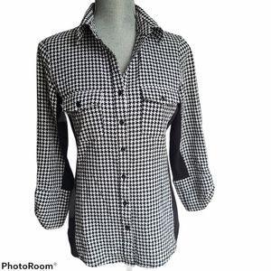 - Zac & Rachel Houndstooth Button Up Shirt